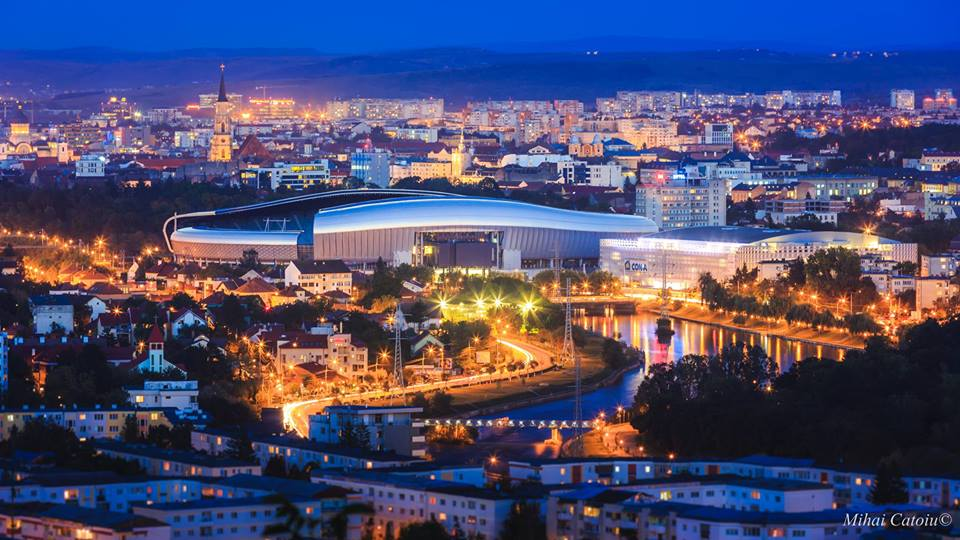 Orasul Cluj Napoca seara